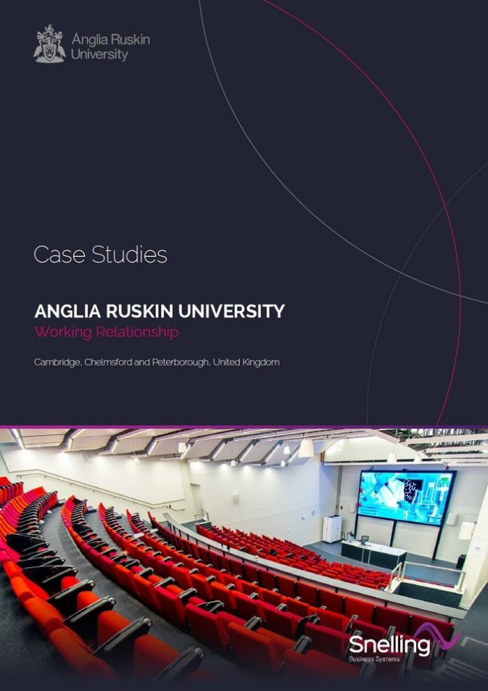 Anglia Ruskin University Case Study Cover Page