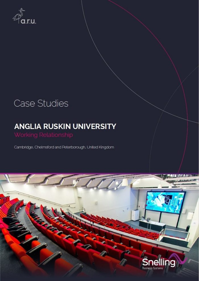 Anglia Ruskin University Case Study Cover Page_Snelling Business Systems