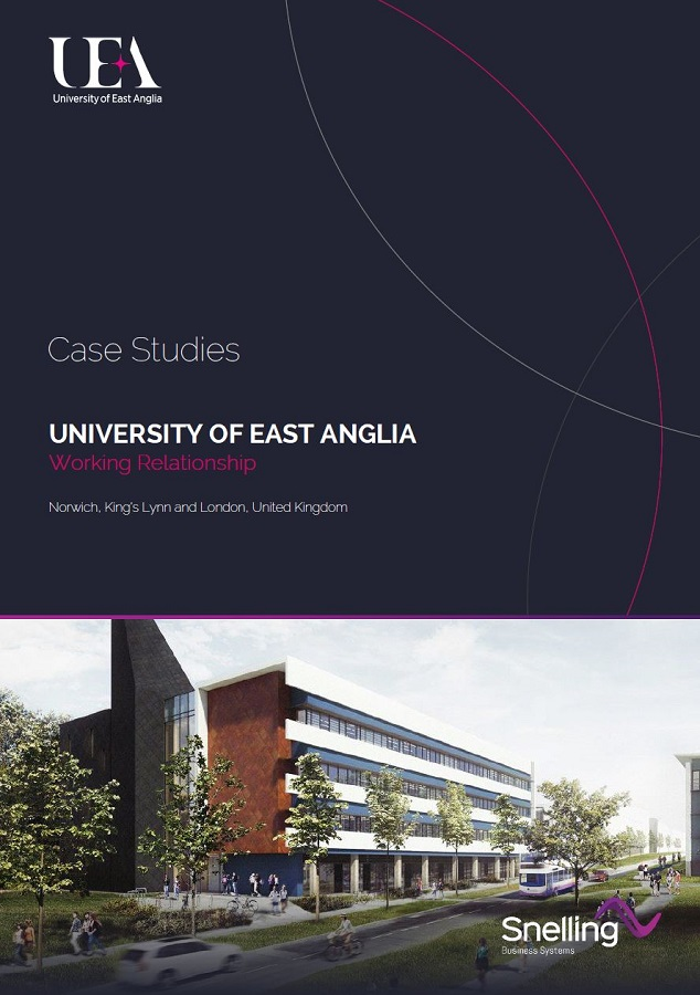 University of East Anglia UEA Case Study Cover Page