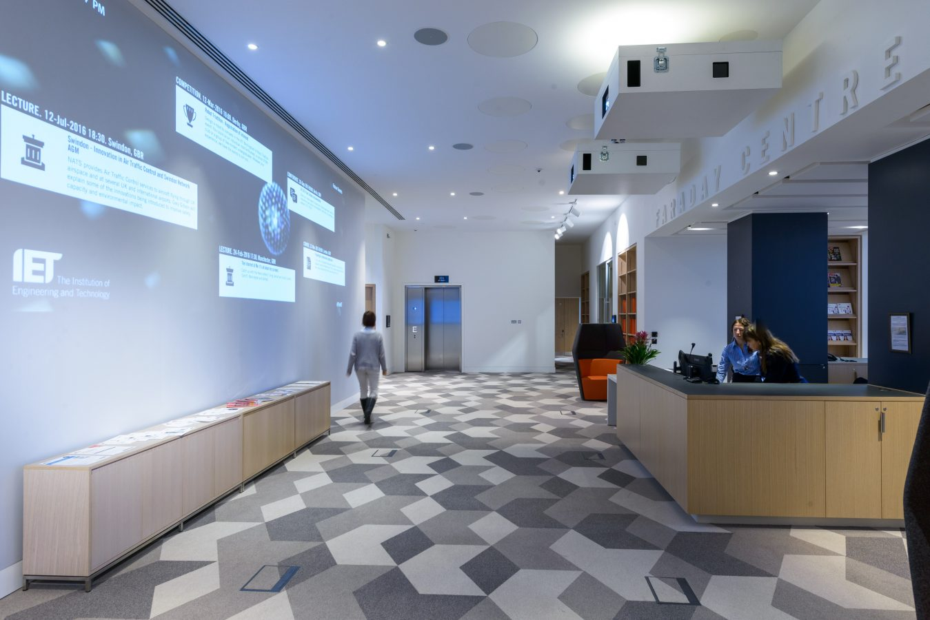Faraday Wall | Projection Systems Integration for Corporate Offices | Snelling