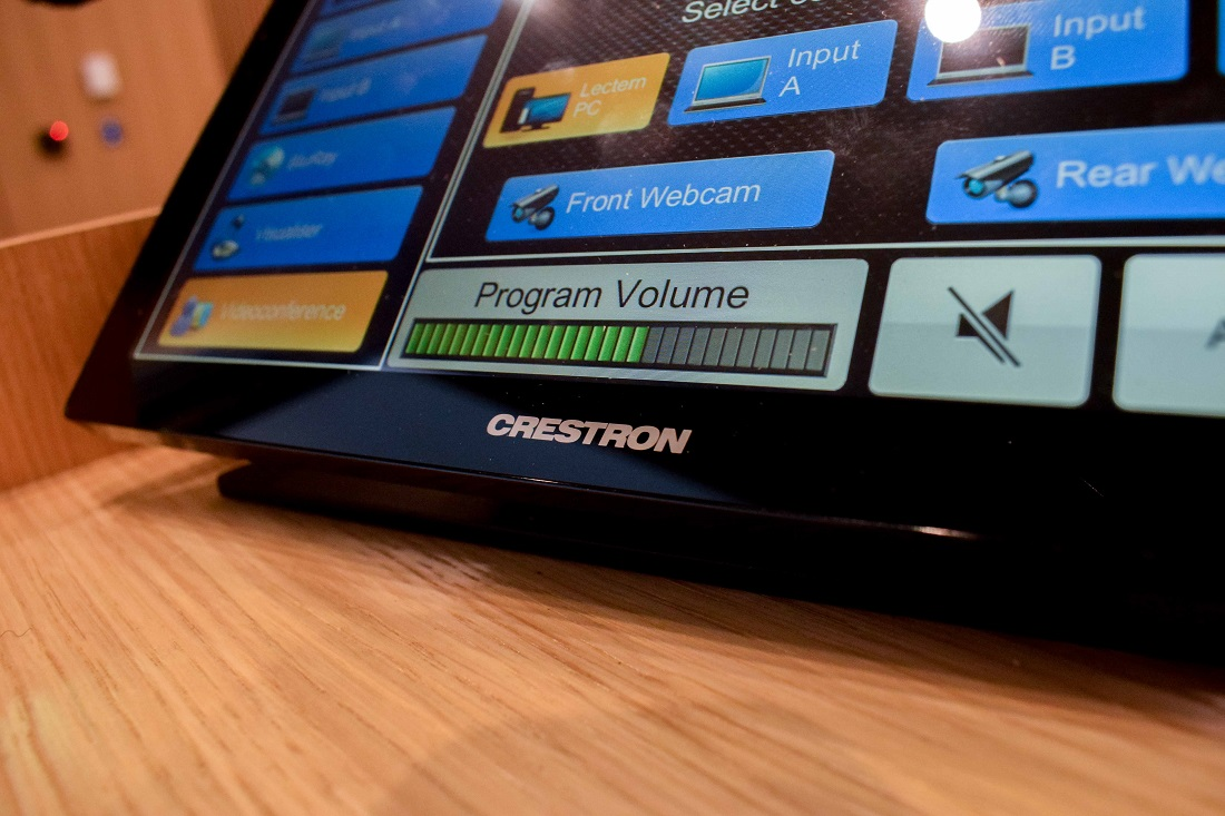 Crestron Control Panel | Judge Business School | Snelling AV Integration