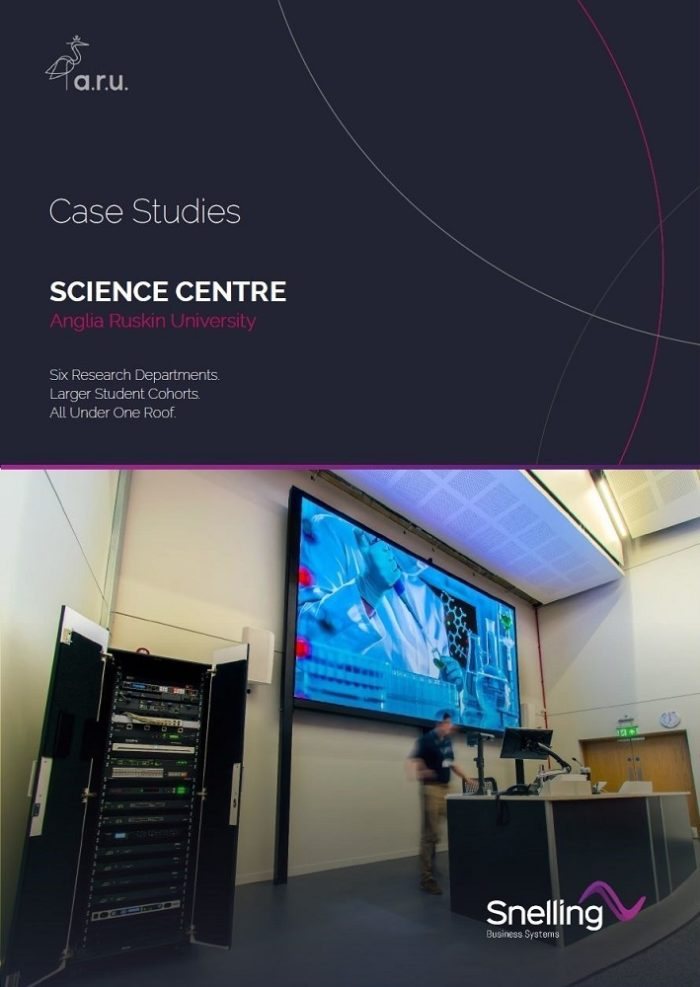 ARU Science Centre AV Case Study Cover Page_Snelling Business Systems