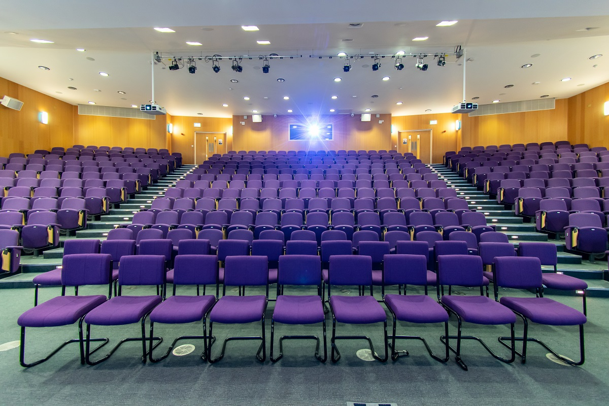 Surrey Business School Lecture Theatre Projection Screen