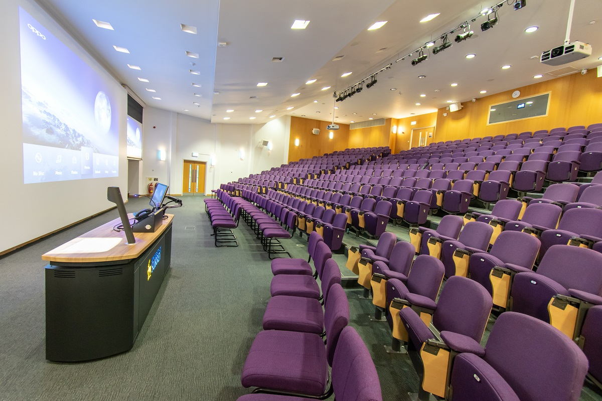 Surrey Business School Lecture Theatre Projection and lectern