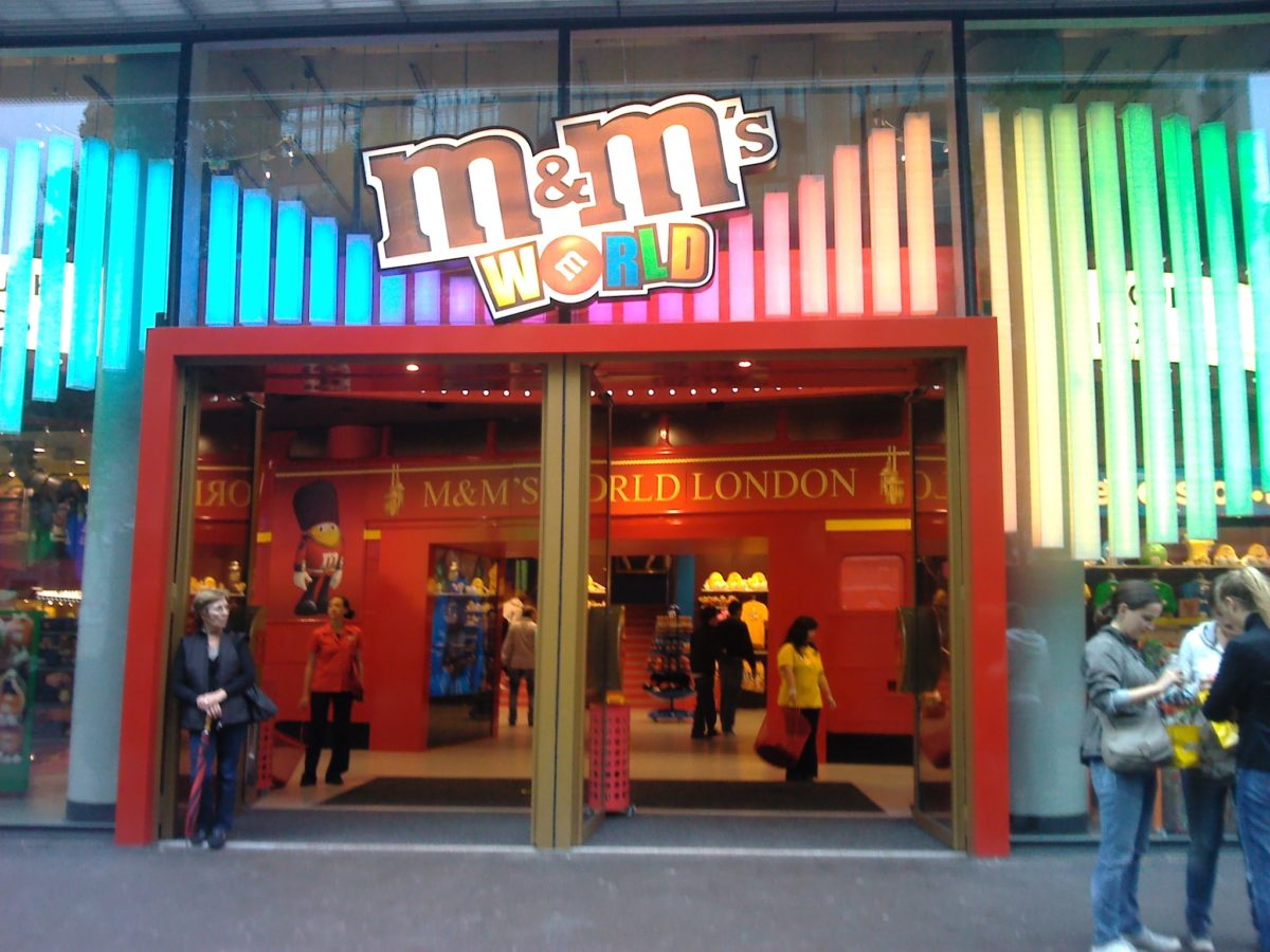 M&M World London Audio Visual Installation