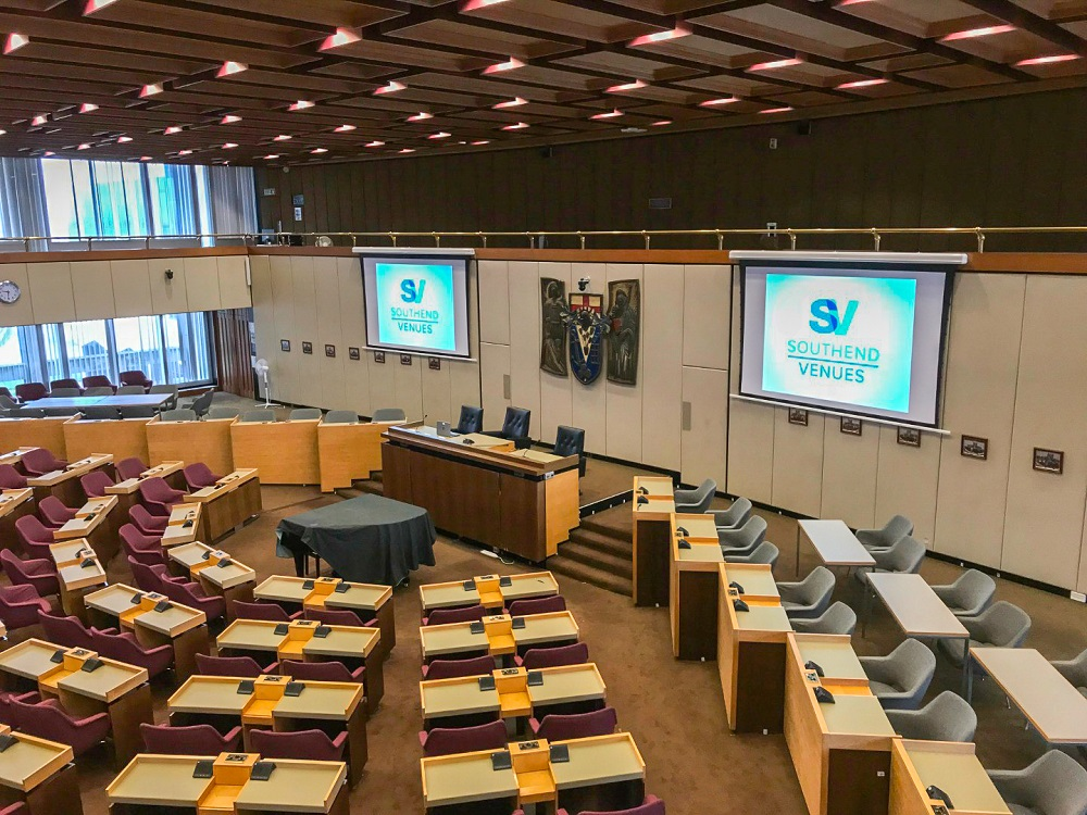 County Council Chamber Audio Visual Installation SPecialist - Snelling Business Systems