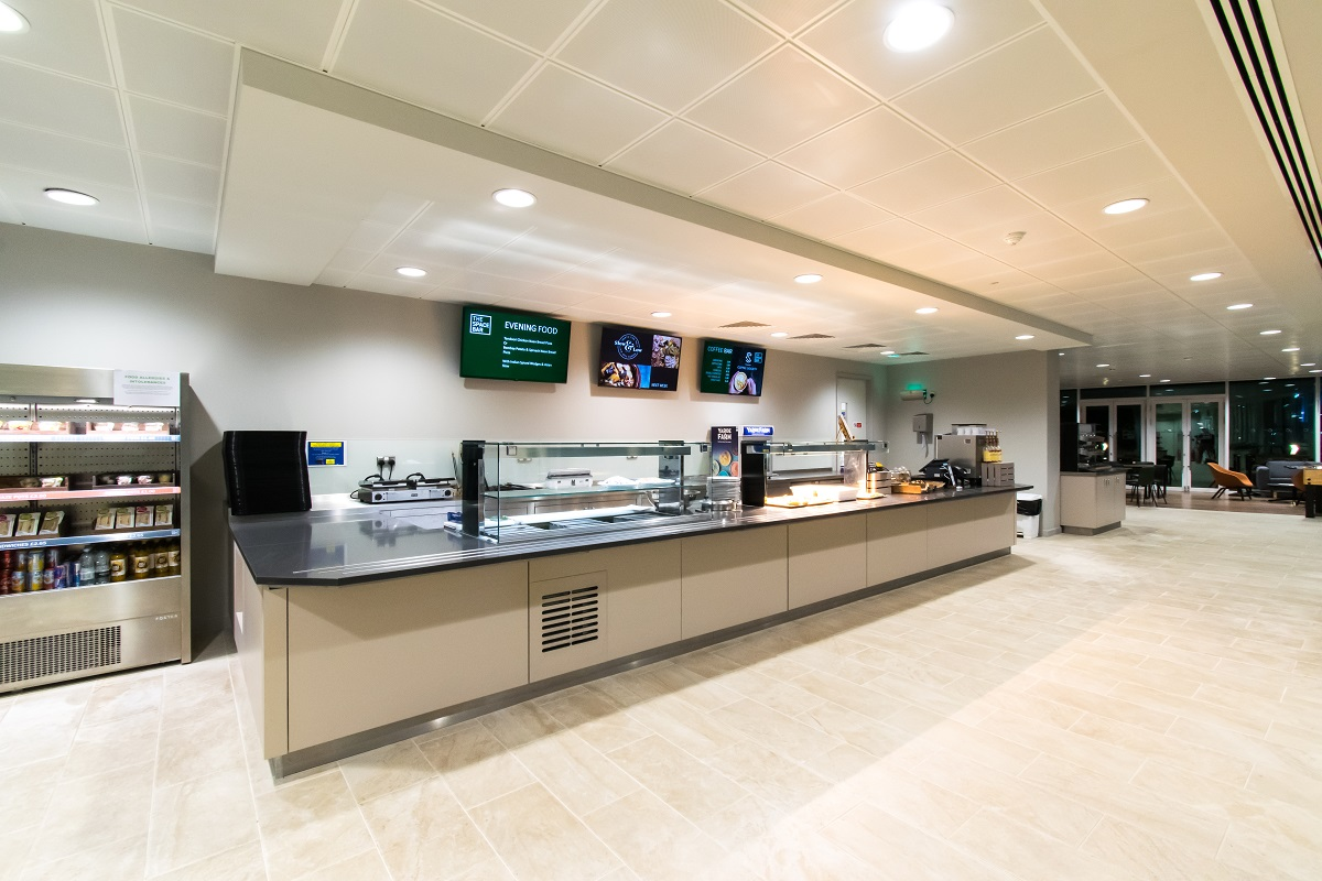 hotel cafeteria display screens UK - snelling business systems