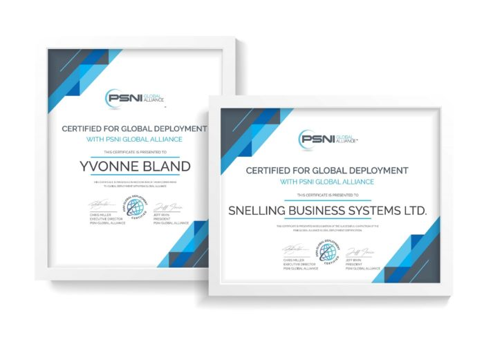 PSNI Global Alliance Snelling Business Systems Certification Logo
