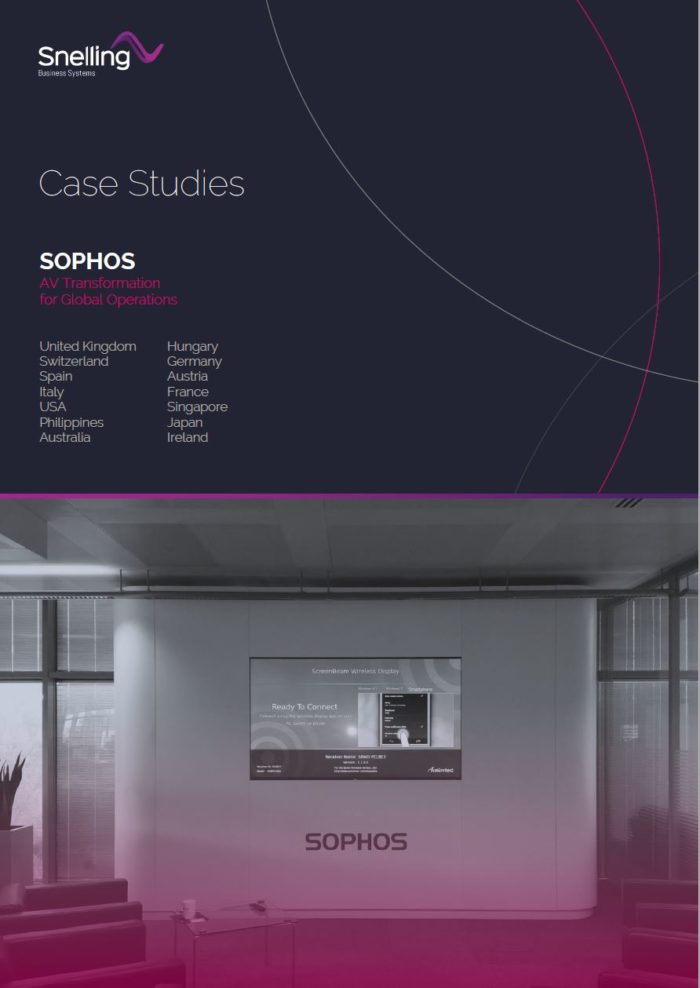 Sophos AV integration case study cover page