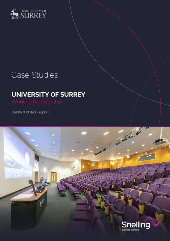 University of Surrey AV Installation Case Study Download PDF