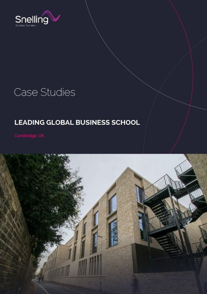 Cambridge Business School Audio Visual Case Study Cover Page