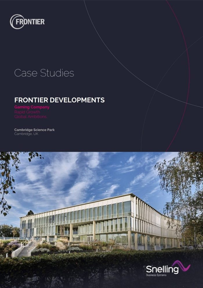 Frontier Developments Corporate Audio Visual Case Study