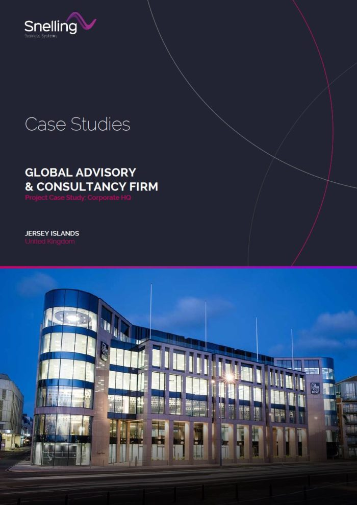 Global Consultancy Firm AV Case Study Cover Page
