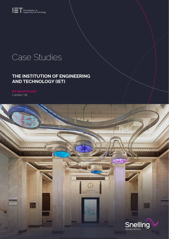 IET Savoy Place AV Install Case Study Cover Page