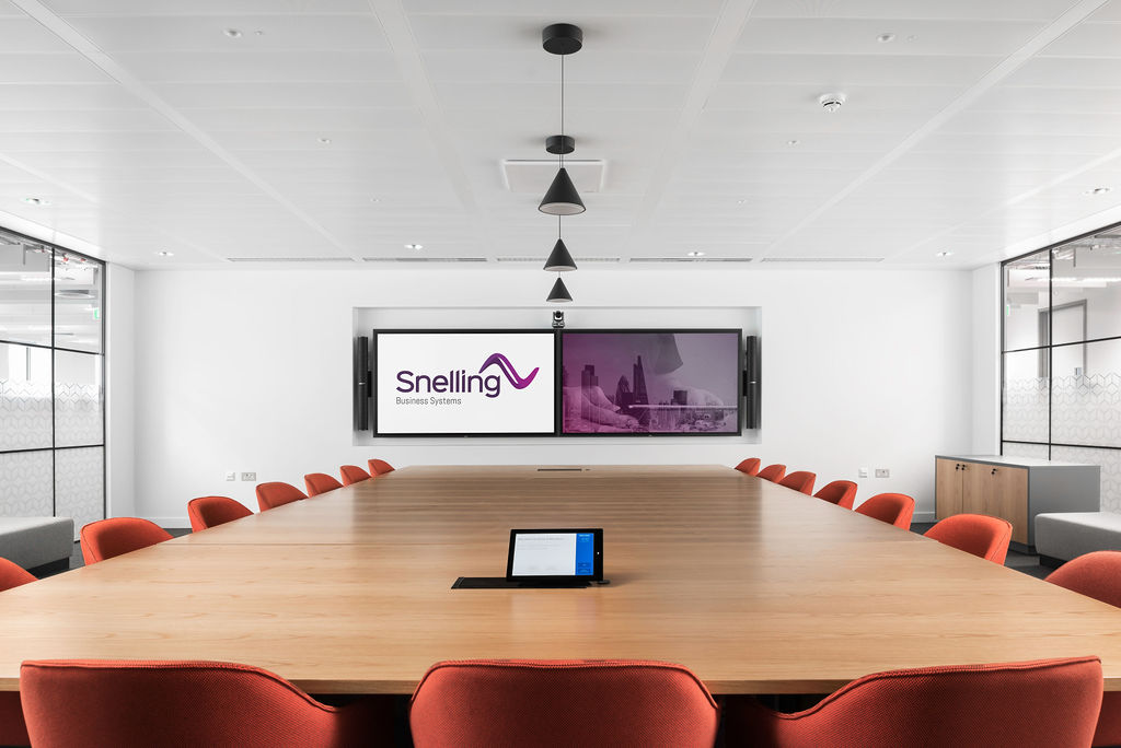 Large Video Conference Room AV setup