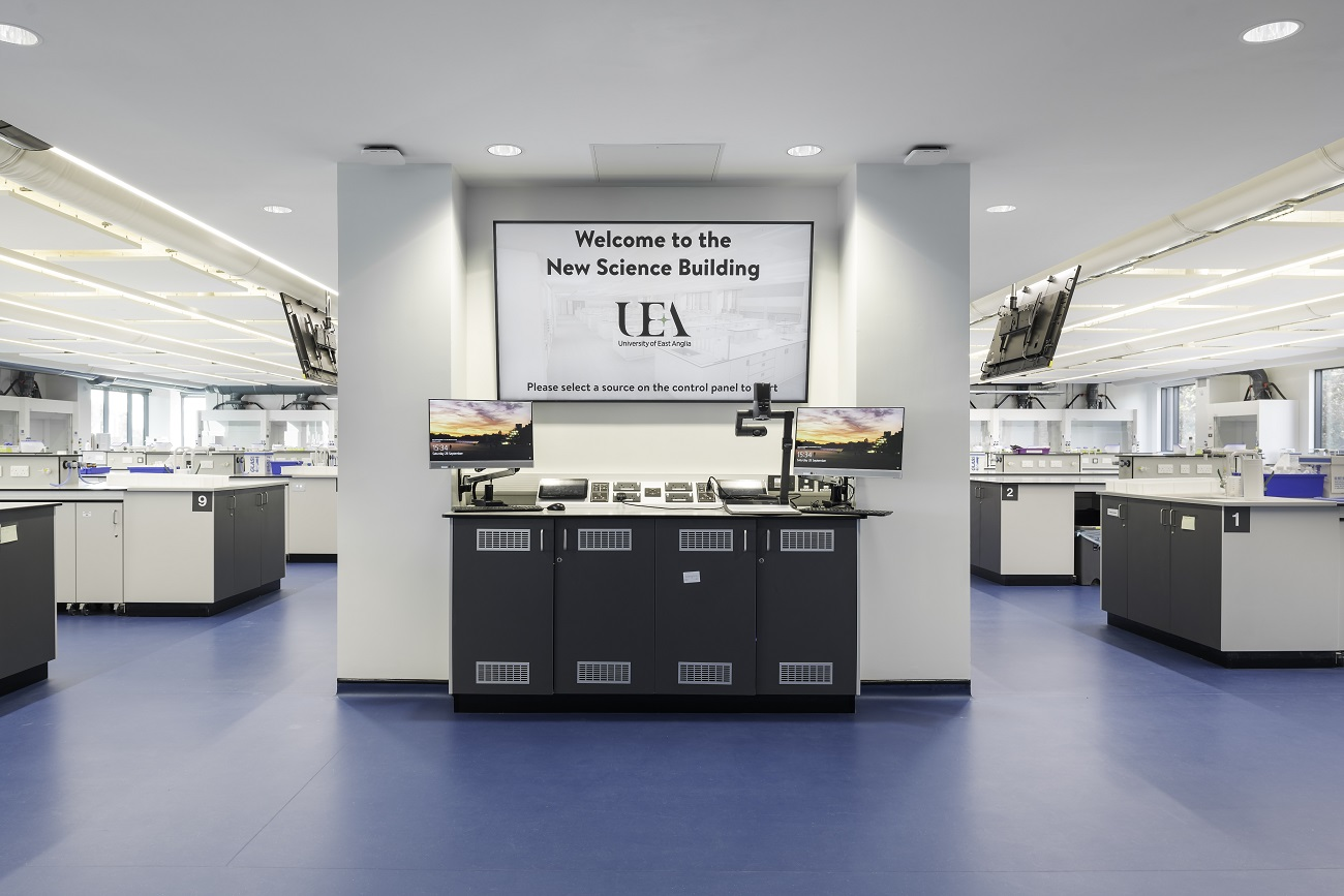 UEA Lab Audio Visual Master Control Room Install - Case Study